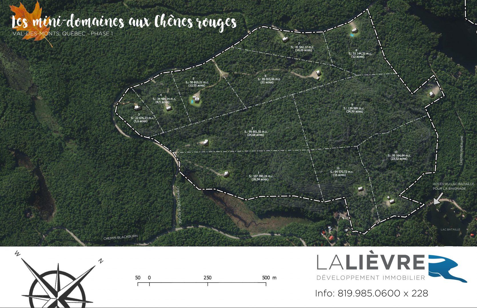 Terrains Lalièvre - Les minis-domaines aux chênes rouges